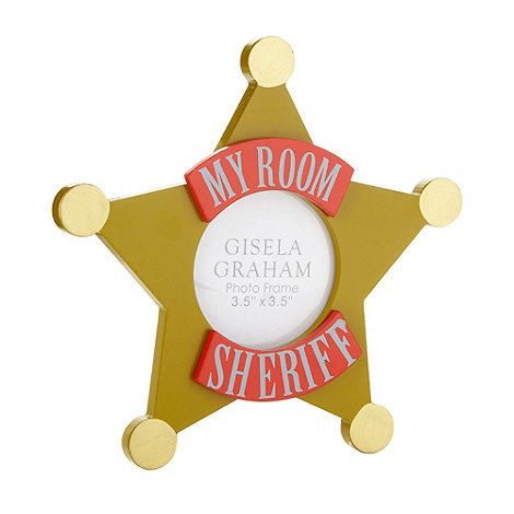 Gisela Graham - Ceramic +Sheriff Star+ plaque