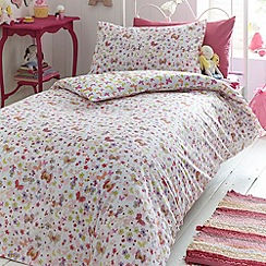 bluezoo - Kid's pink 'annabel butterfly' bedding set