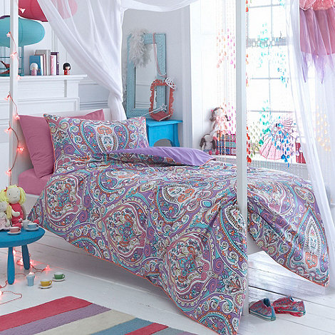 Butterfly Home by Matthew Williamson - Designer purple +Paisley+ bedding set