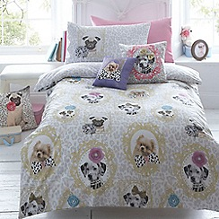Star by Julien MacDonald - Designer children's light grey 'coco and friends' duvet set
