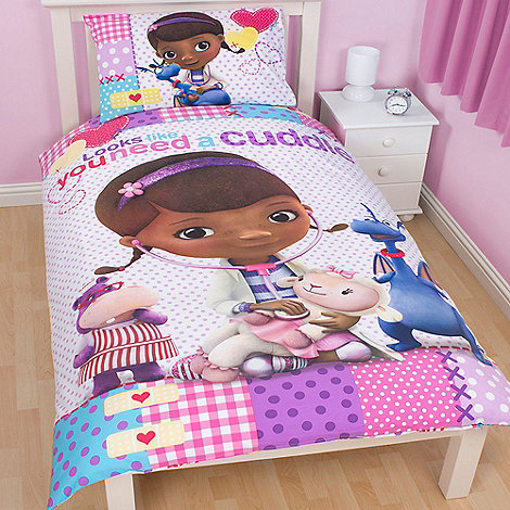 Doc McStuffins - Kids+ pink +Doc McStuffins+ single duvet cover and pillow case set