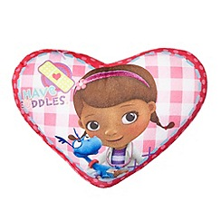 Doc McStuffins - Pink Doc McStuffins Patch heart shaped cushion