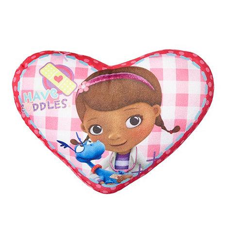 Doc McStuffins - Pink Doc McStuffins Patch heart shaped cushion