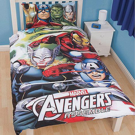 The Avengers - Kids+ blue +Avengers Assemble+ single duvet cover and pillow case set