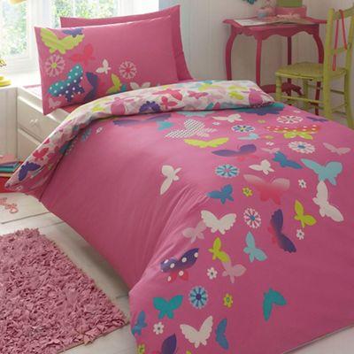Butterfly Home by Matthew Williamson Children´s pink ´Rainbow Butterflies´ bedding set - . -