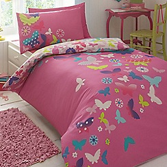 Butterfly Home by Matthew Williamson - Children's pink 'Rainbow Butterflies' bedding set