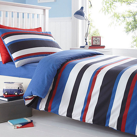 bluezoo Kids' blue striped bedding set | Debenhams