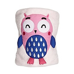 bluezoo - Kid's pink owl fleece blanket