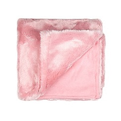 Star by Julien Macdonald - Designer kid's pink faux fur throw