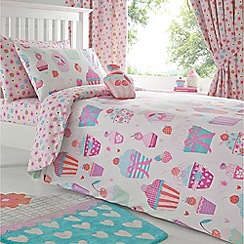 bluezoo - Kids' pink cupcake print bedding set