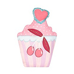 bluezoo - Children's pink cupcake cushion