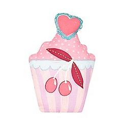 bluezoo - Children's pink cupcake cushion