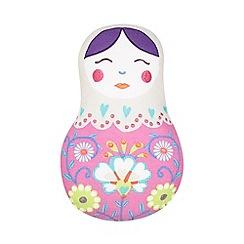 Butterfly Home by Matthew Williamson - Designer children's pink Russian doll cushion