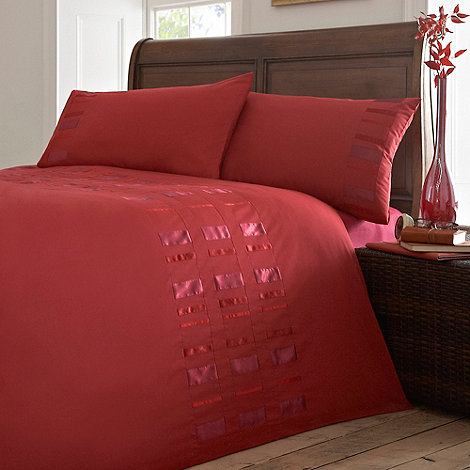 Debenhams - Red +Ribbon stripe+ bedding set
