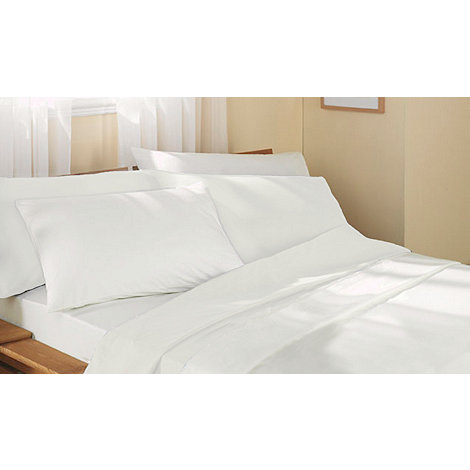 Jeff Banks Home - White cotton fitted sheet set