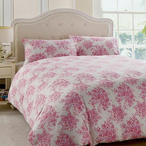 Night Owl - Pink +Rosella+ floral duvet set