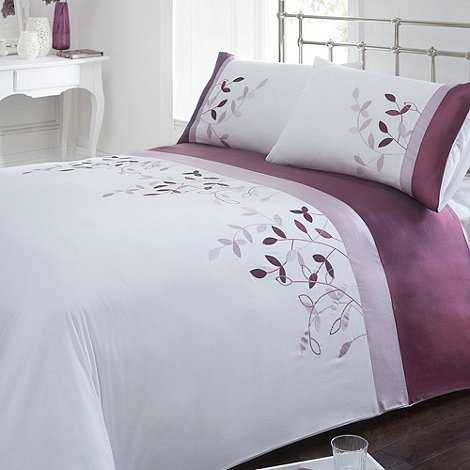 Debenhams - Purple +Beth+ floral bedding set
