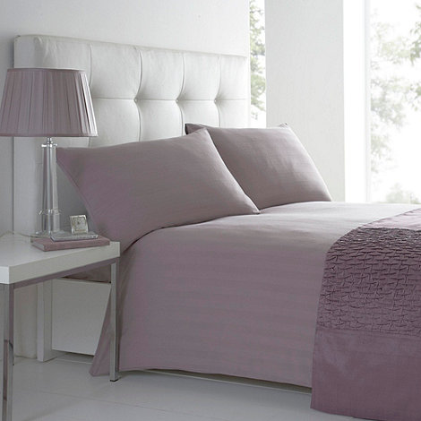 J by Jasper Conran - Lilac sateen stripe bed linen