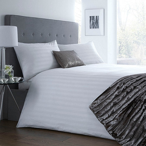 J by Jasper Conran - White sateen stripe bed linen