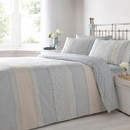 Multi 'Rina' printed stripe bedding set