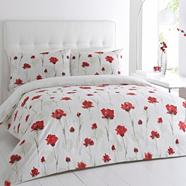 Red 'Darcy' floral print bedding set