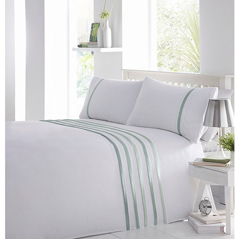 Debenhams - Pale green +Ellis+ pleat bedding set