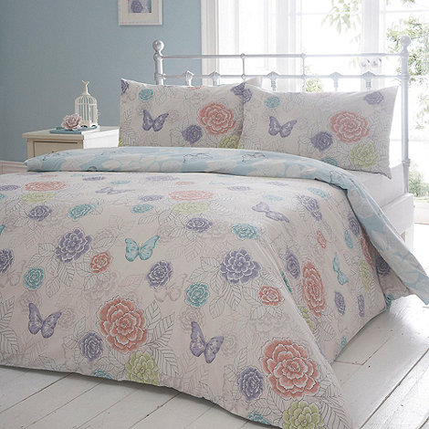 Debenhams - Reversible +Fluer butterfly+ bedding set