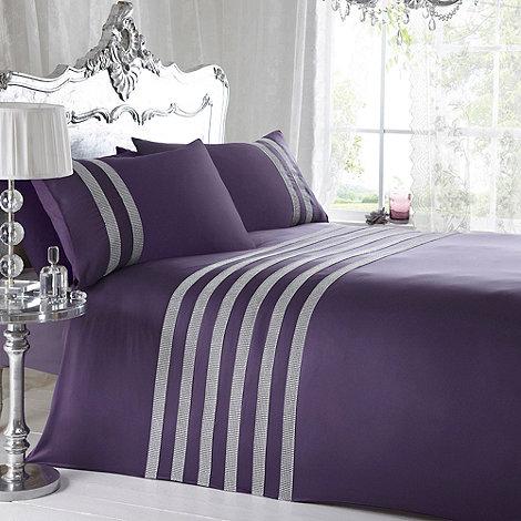 Star by Julien Macdonald - Designer plum +Vegas+ duvet and pillowcase set