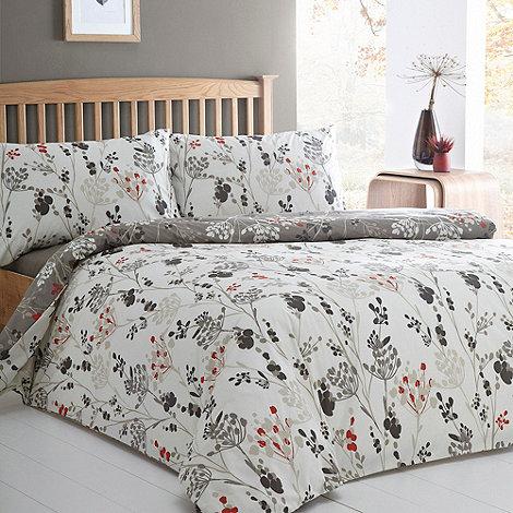 Debenhams - Natural +Patience+ reversible blossom bedding set