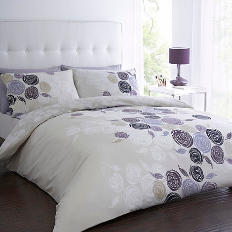 Betty Jackson.Black - Designer purple +may+ floral printed  bedding set