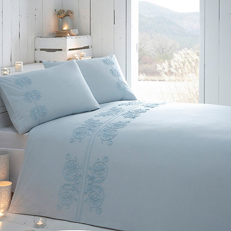 RJR.John Rocha - Aqua +Chakra+ floral tape border bedding set