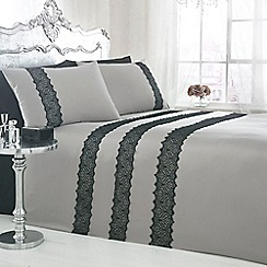 Star by Julien MacDonald - Designer silver 'Lacey' bedding set