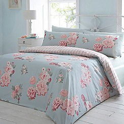 Debenhams - Blue 'spring floral' bedding set