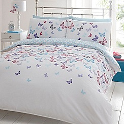 Debenhams - White butterflies bedding set