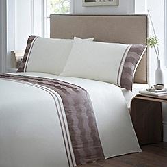 Debenhams - Natural 'Reema' bedding set
