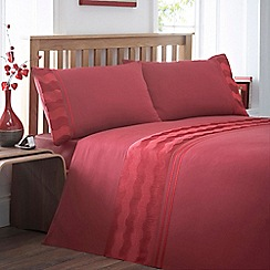 Debenhams - Red 'Reema' bedding set