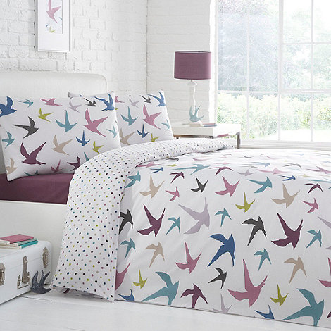 Debenhams - White 'Swallows' bedding set