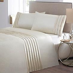 Debenhams - Natural 'Zara Sequin' bedding set