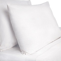 Debenhams - White plainbed linen