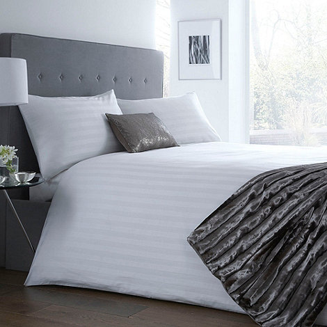 J by Jasper Conran - Designer white +Sateen Stripe+ bedding set