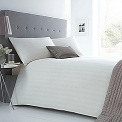 J by Jasper Conran - Designer cream 'Sateen Stripe' bedding set