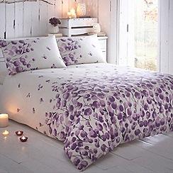 Rocha John Rocha - Designer purple 'Raydi' floral border bedding set