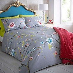 Butterfly Home by Matthew Williamson - Designer grey 'Chinoise' bedding set