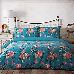 Butterfly Home by Matthew Williamson - Designer teal parrot printed bedding set