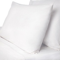 Debenhams - White polycotton plain dye fitted sheet sets