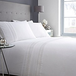 Debenhams - White 'Penny' bedding set