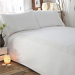 RJR.John Rocha - Designer white 'Isla' bed linen
