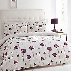 Betty Jackson.Black - Designer purple 'Darcy' bed linen