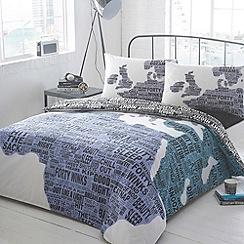 Ben de Lisi Home - Designer white map text bed linen