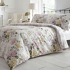 Debenhams - Pale pink 'Hydrangea' bedding set